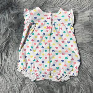 Carter's heart romper with a whale newborn girl